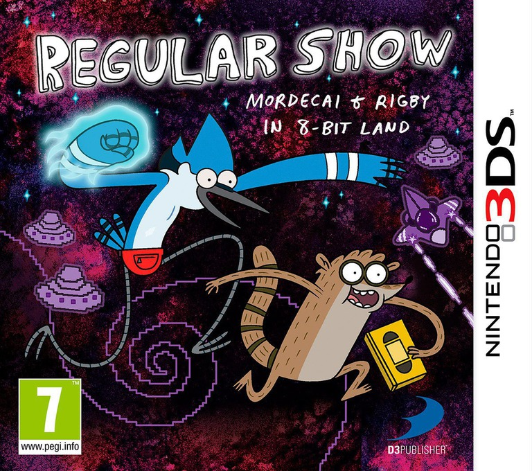Regular Show - Mordecai and Rigby in 8-bit Land 3DS coverHQ (AEBP)