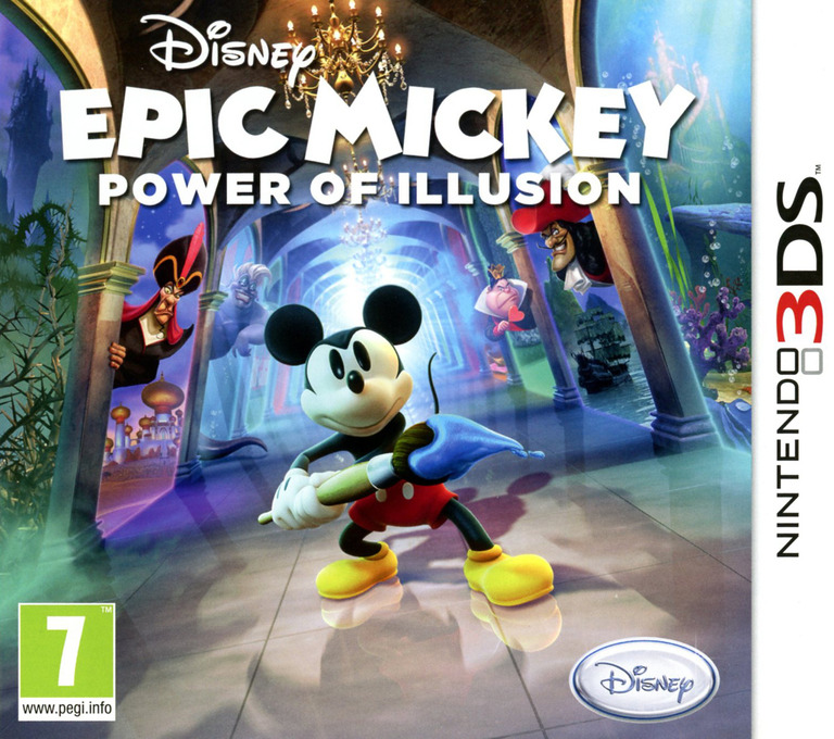 Disney Epic Mickey - Power of Illusion 3DS coverHQ (AECX)