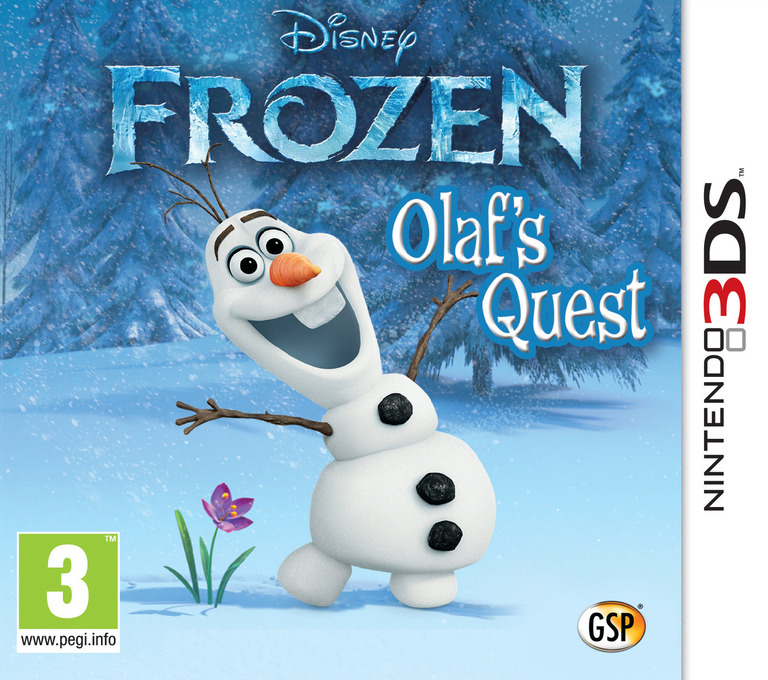 Disney Frozen - Olaf's Quest 3DS coverHQ (AEHZ)