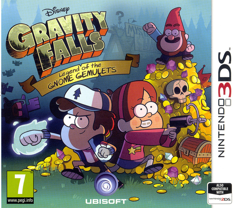 Gravity Falls - Legend of the Gnome Gemulets 3DS coverHQ (AGFP)