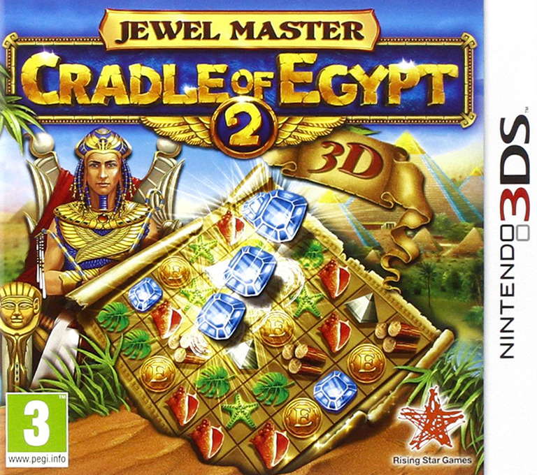 Jewel Master - Cradle of Egypt 2 3D 3DS coverHQ (AJEP)