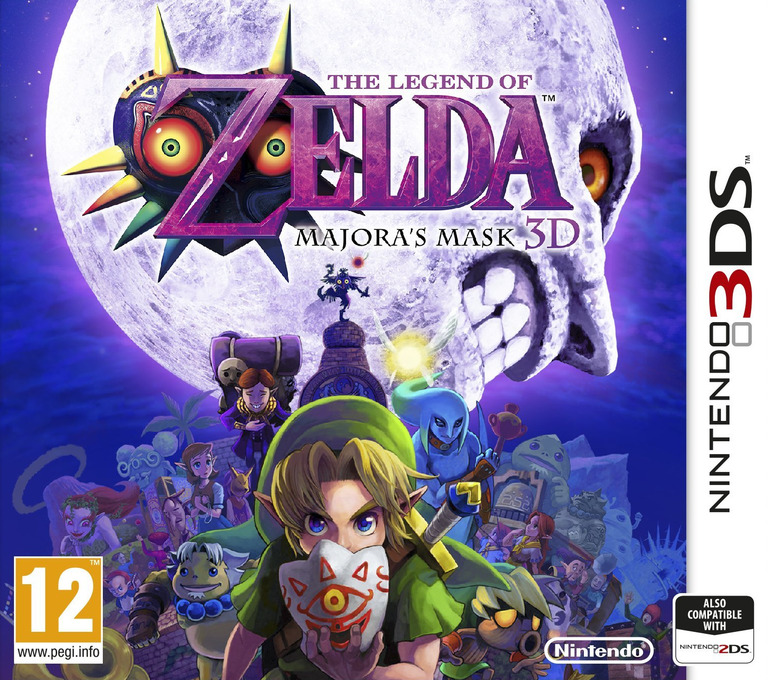 The Legend of Zelda - Majora's Mask 3D 3DS coverHQ (AJRP)