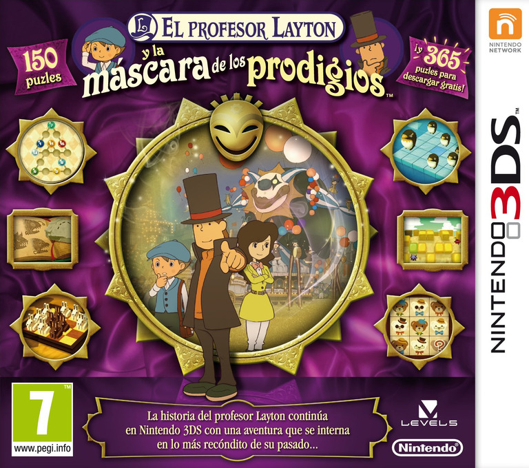 El Profesor Layton y la Mascara de los Prodigios 3DS coverHQ (AKKS)