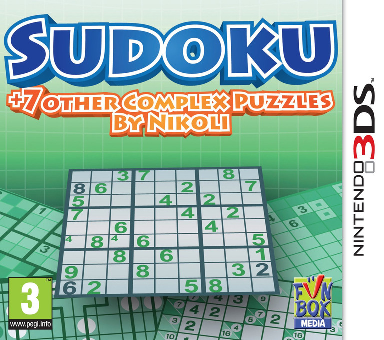 Sudoku + 7 Other Complex Puzzles by Nikoli 3DS coverHQ (ANQP)