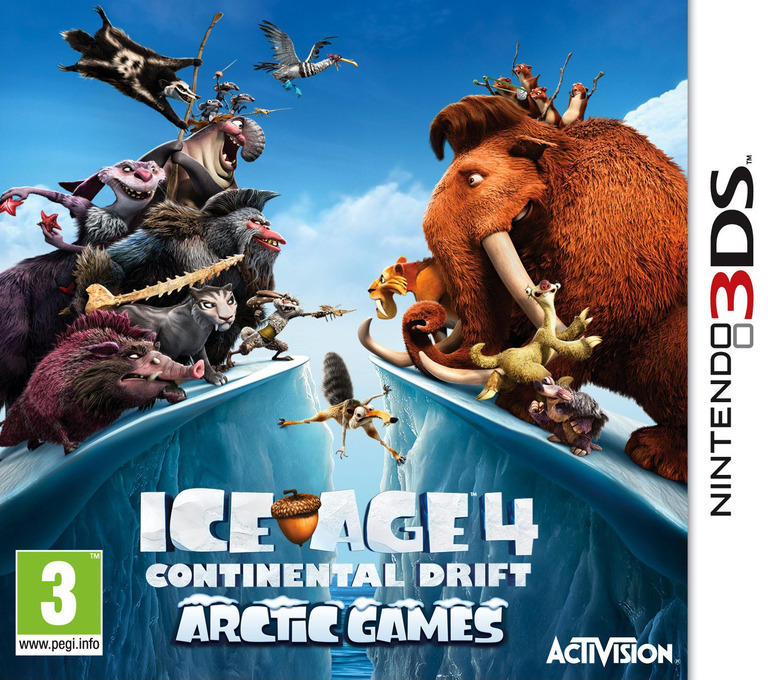 Ice Age 4 - Continental Drift - Arctic Games 3DS coverHQ (AQLP)
