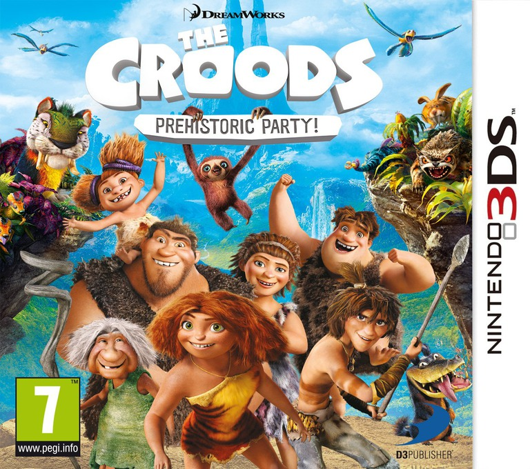 The Croods - Prehistoric Party! 3DS coverHQ (AQRP)