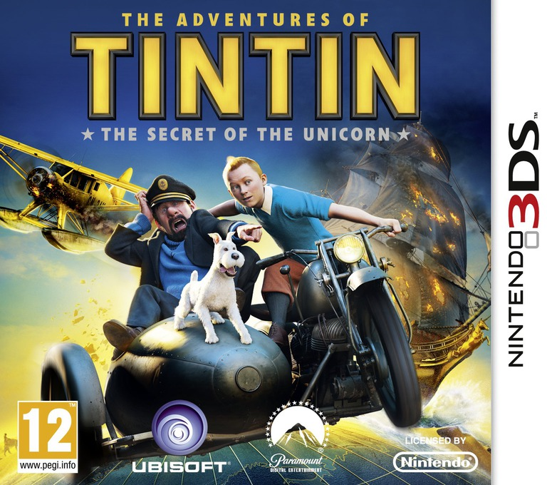 The Adventures of Tintin - The Secret of the Unicorn 3DS coverHQ (ATNP)