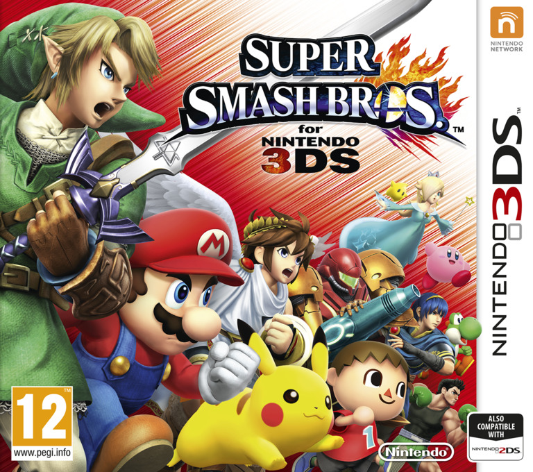 Super Smash Bros. for Nintendo 3DS 3DS coverHQ (AXCP)