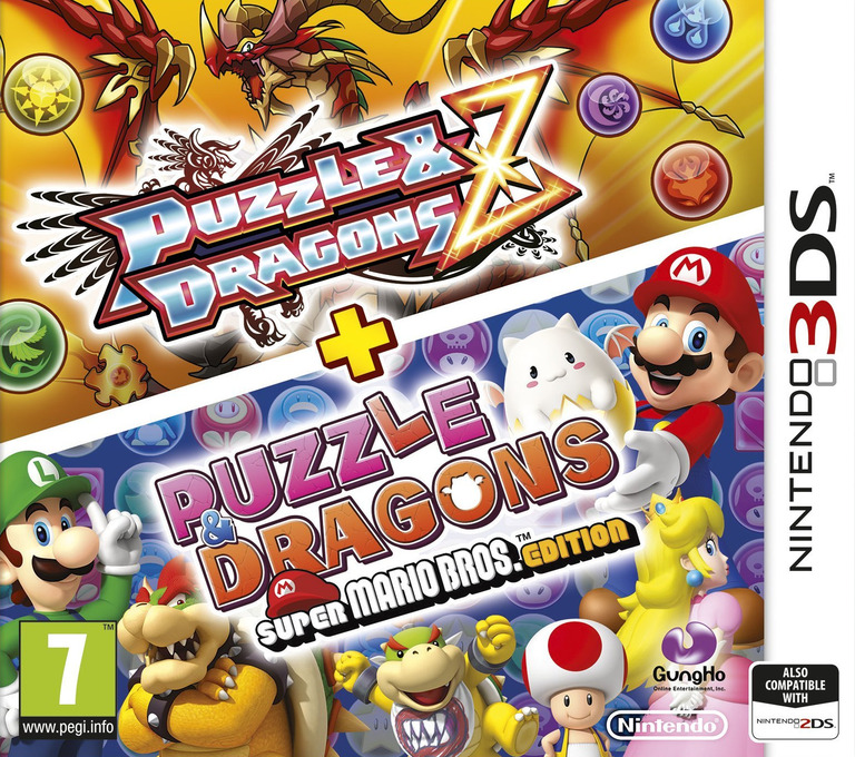 Puzzle & Dragons Z + Puzzle & Dragons Super Mario Bros. Edition 3DS coverHQ (AZGP)