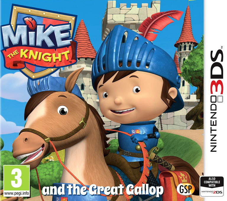 Mike the Knight and the Great Gallop 3DS coverHQ (BMJP)