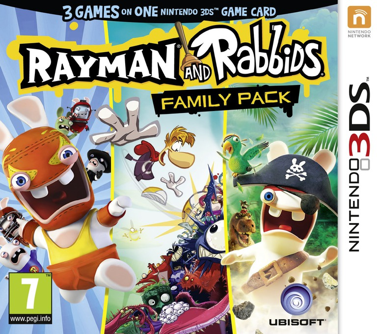 Rayman and Rabbids Family Pack 3DS coverHQ (BRRP)