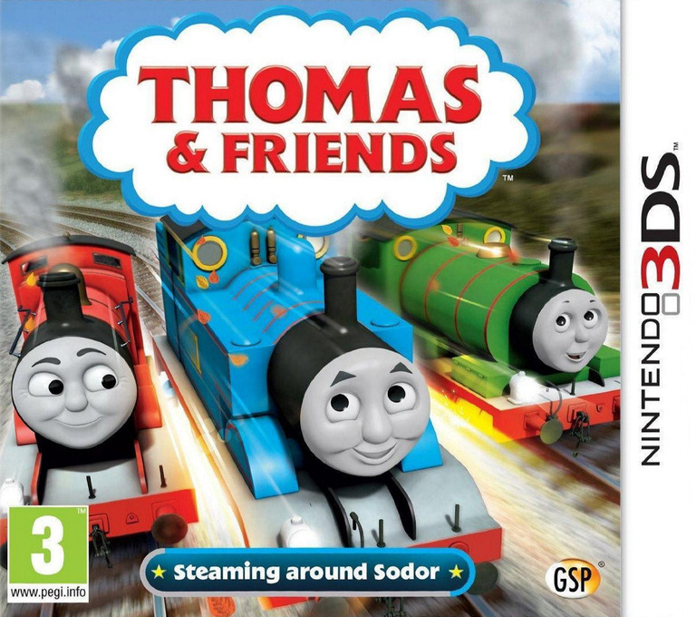 Thomas & Friends - Steaming around Sodor 3DS coverHQ (BTBP)