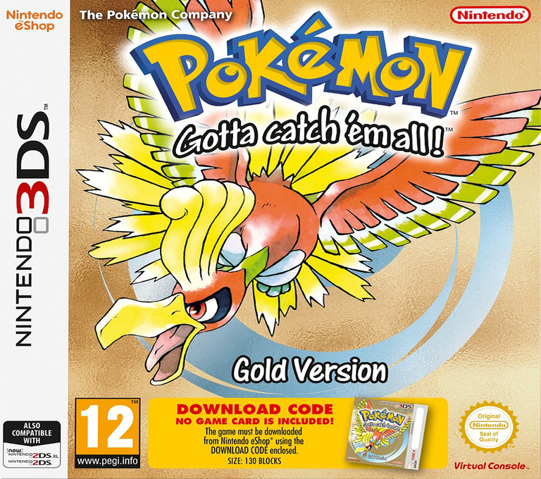 Pokémon - Gotta catch 'em all! - Gold Version 3DS coverHQ (QBSA)