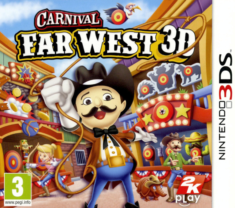 Carnival - Far West 3D 3DS coverHQ (AW2P)