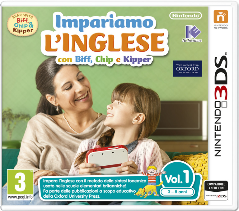 Impariamo L'inglese con Biff, Chip e Kipper Vol. 1 3DS coverHQ (AFZP)