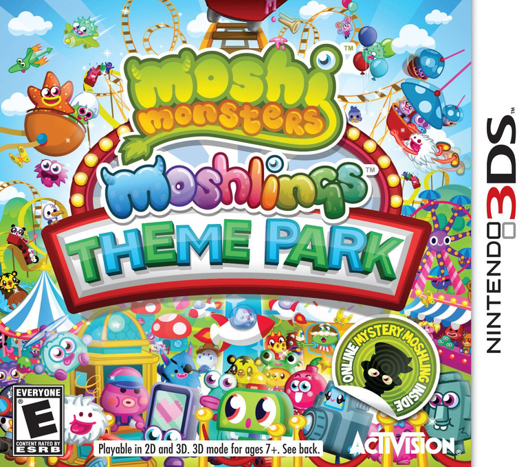Moshi Monsters - Moshlings Theme Park 3DS coverHQ (AA9E)