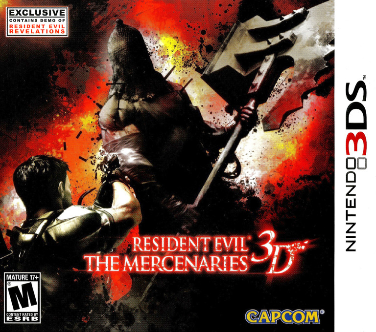Resident Evil - The Mercenaries 3D 3DS coverHQ (ABME)
