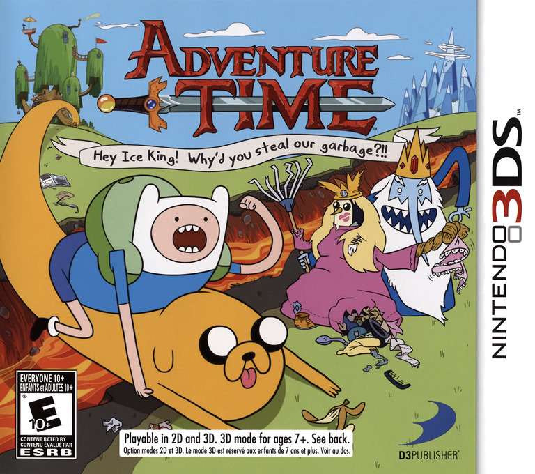 Adventure Time - Hey Ice King! Why'd You Steal Our Garbage!! 3DS coverHQ (AD4E)
