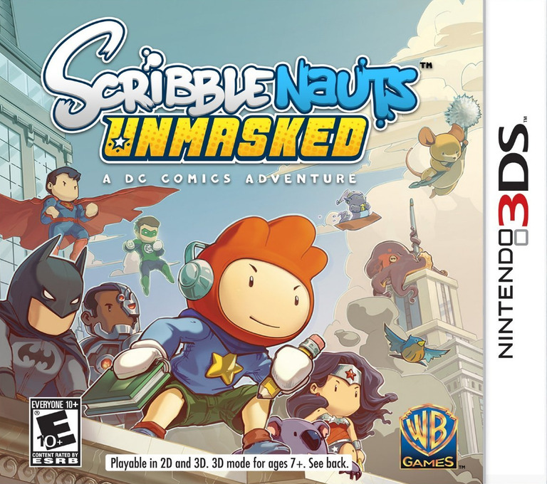 Scribblenauts Unmasked - A DC Comics Adventure 3DS coverHQ (AD6E)