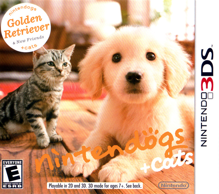 Nintendogs + Cats - Golden Retriever & New Friends 3DS coverHQ (ADAE)