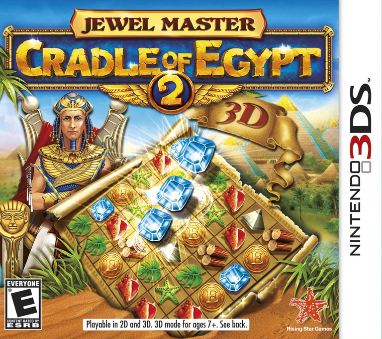 Jewel Master - Cradle of Egypt 2 3D 3DS coverHQ (AJEE)