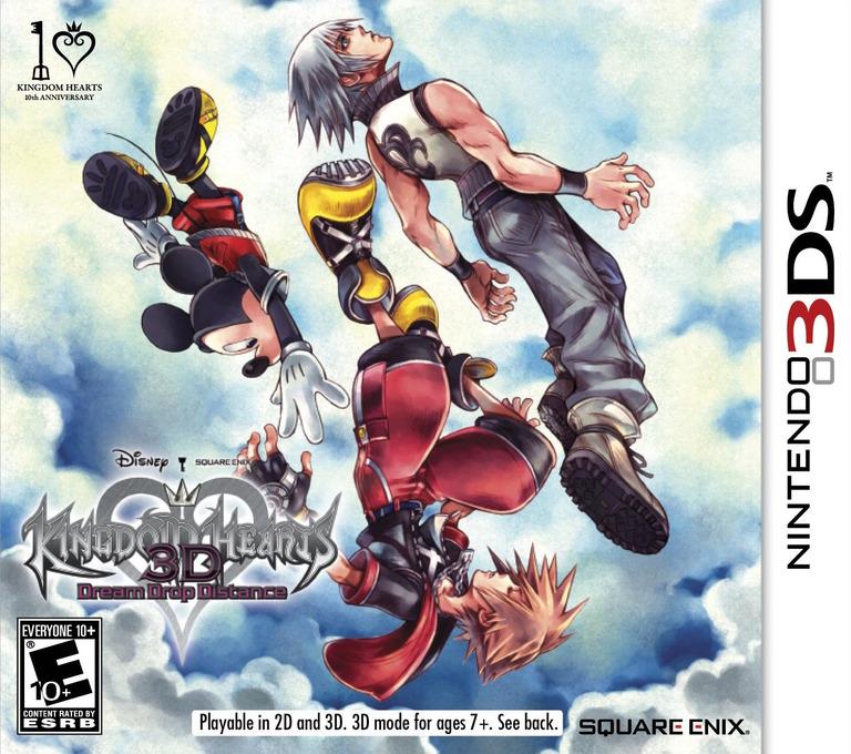 Kingdom Hearts 3D - Dream Drop Distance 3DS coverHQ (AKHE)
