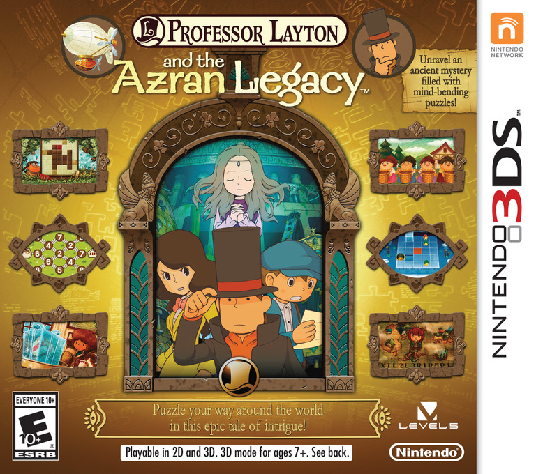 Professor Layton and the Azran Legacy 3DS coverHQ (AL6E)