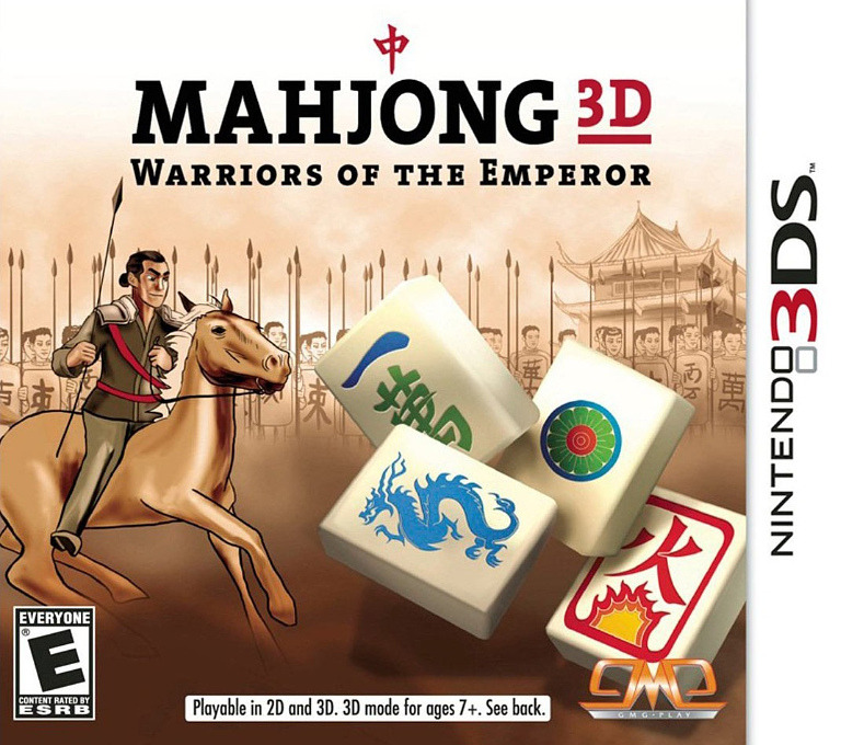 Mahjong 3D - Warriors of the Emperor 3DS coverHQ (AMZE)