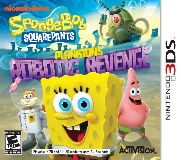 SpongeBob SquarePants - Plankton's Robotic Revenge 3DS coverHQ (ANXE)