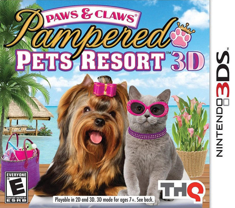 Paws & Claws - Pampered Pets Resort 3D 3DS coverHQ (AP8E)