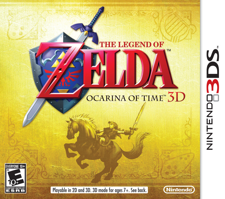 The Legend of Zelda - Ocarina of Time 3D 3DS coverHQ (AQEE)