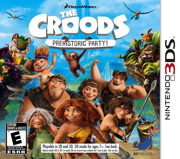 The Croods - Prehistoric Party! 3DS coverHQ (AQRE)