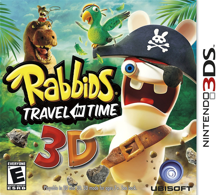 Rabbids - Travel in Time 3D 3DS coverHQ (ARBE)