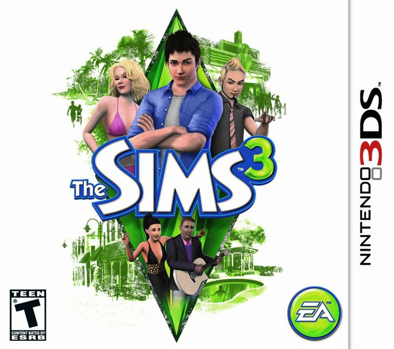 The Sims 3 3DS coverHQ (AS3E)