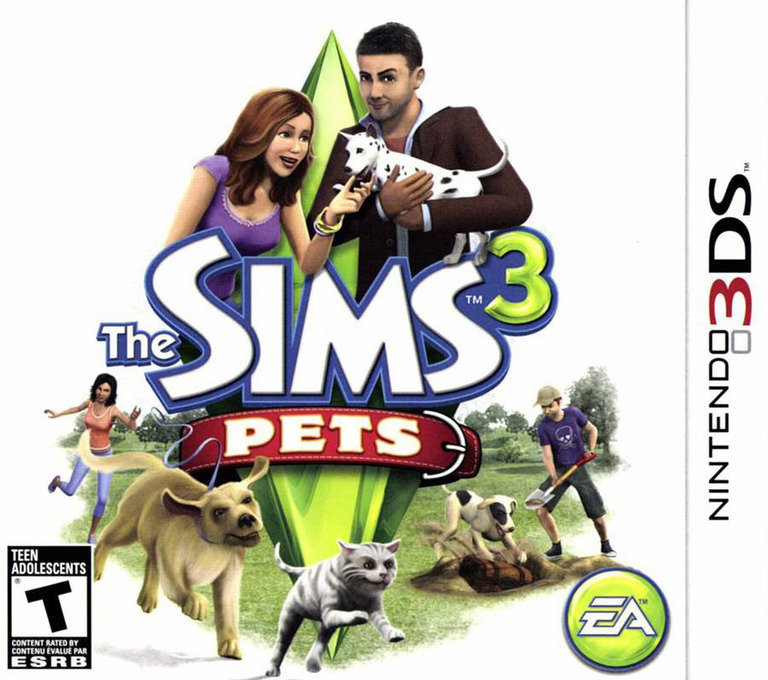The Sims 3 - Pets 3DS coverHQ (AS4E)