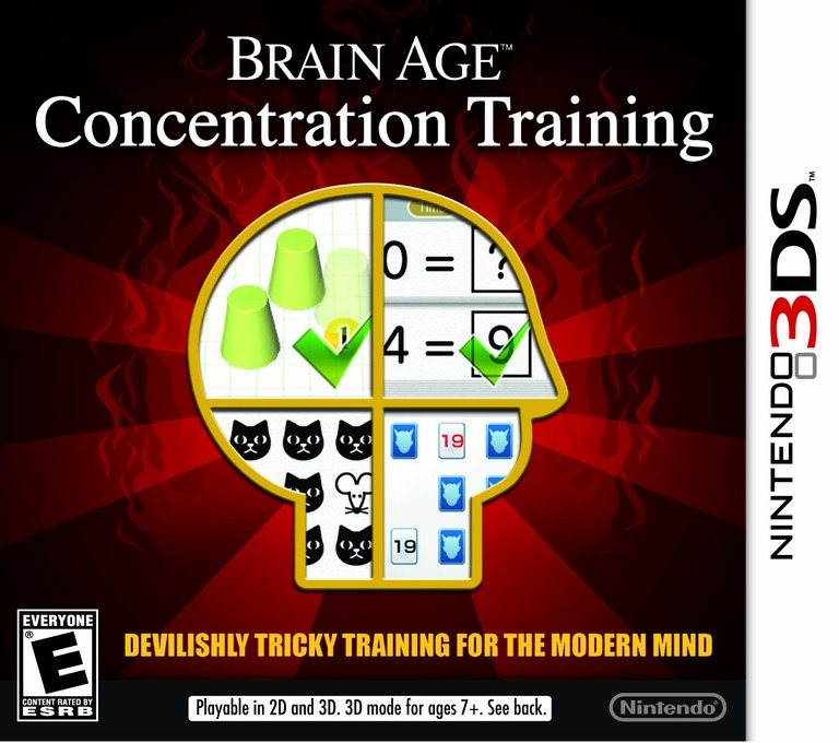 Brain Age - Concentration Training 3DS coverHQ (ASRE)