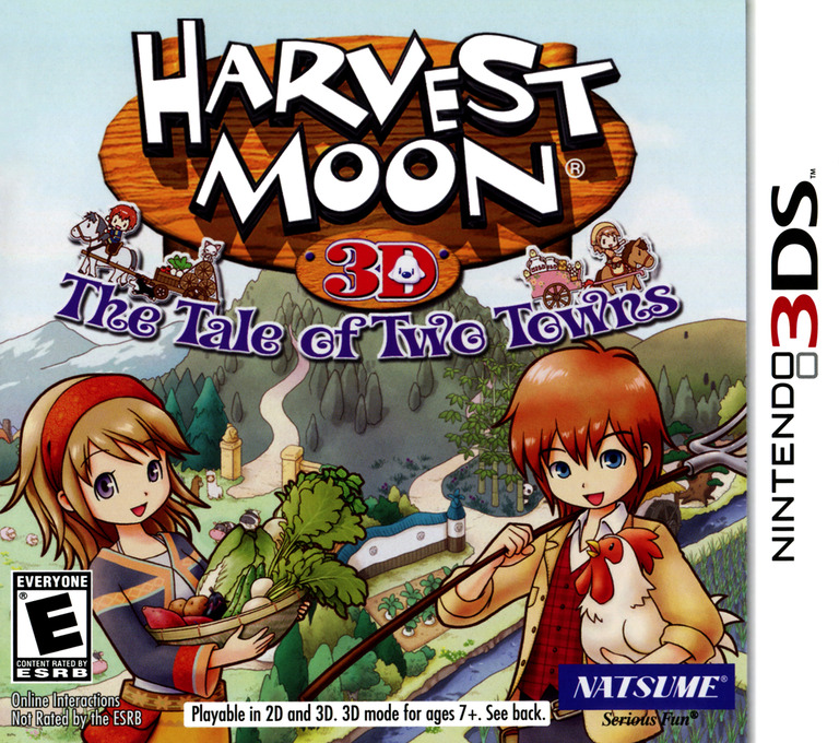 Harvest Moon 3D - The Tale of Two Towns 3DS coverHQ (AT2E)