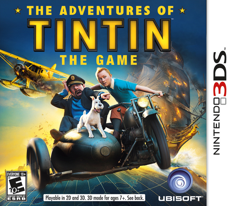 The Adventures of Tintin - The Game 3DS coverHQ (ATNE)