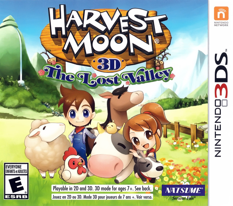 Harvest Moon 3D - The Lost Valley 3DS coverHQ (AVME)