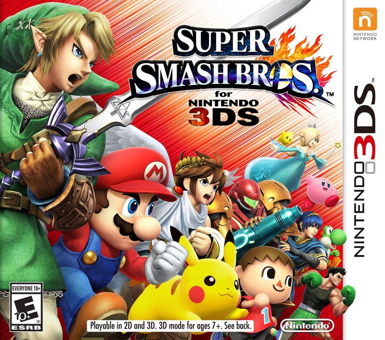 Super Smash Bros. for Nintendo 3DS 3DS coverHQ (AXCE)