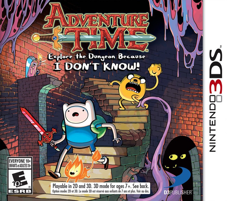 Adventure Time - Explore the Dungeon Because I DON'T KNOW! 3DS coverHQ (AY9E)