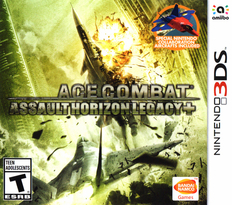 Ace Combat - Assault Horizon Legacy+ 3DS coverHQ (BCRE)