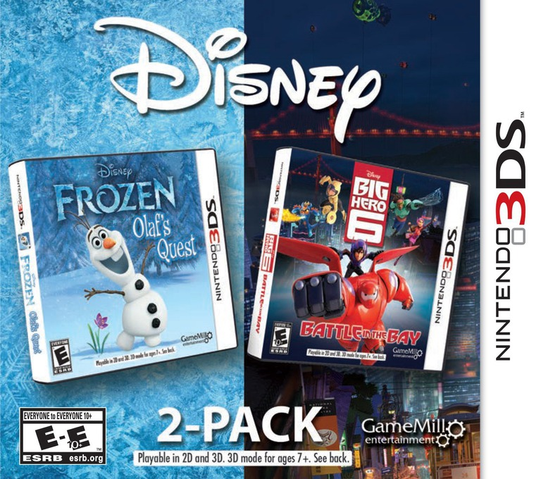Disney Frozen: Olaf's Quest and Disney Big Hero 6: Battle in the Bay 3DS coverHQ (BF6E)