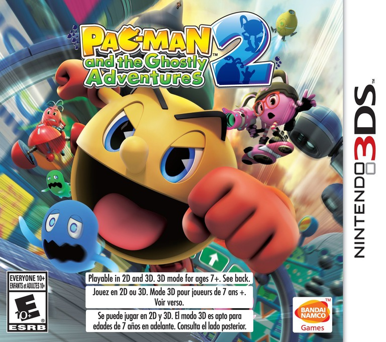 Pac-Man and the Ghostly Adventures 2 3DS coverHQ (BPME)