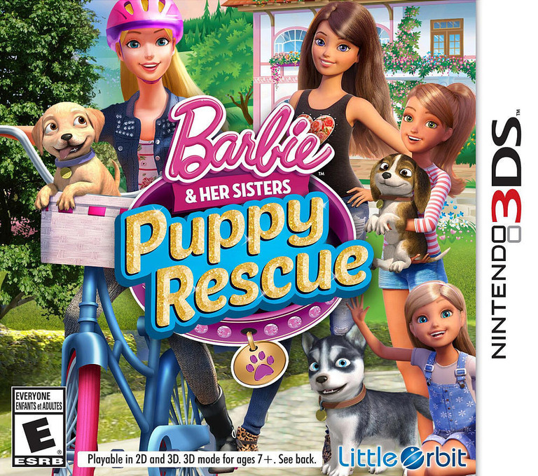 Barbie & Her Sisters - Puppy Rescue 3DS coverHQ (BRQE)
