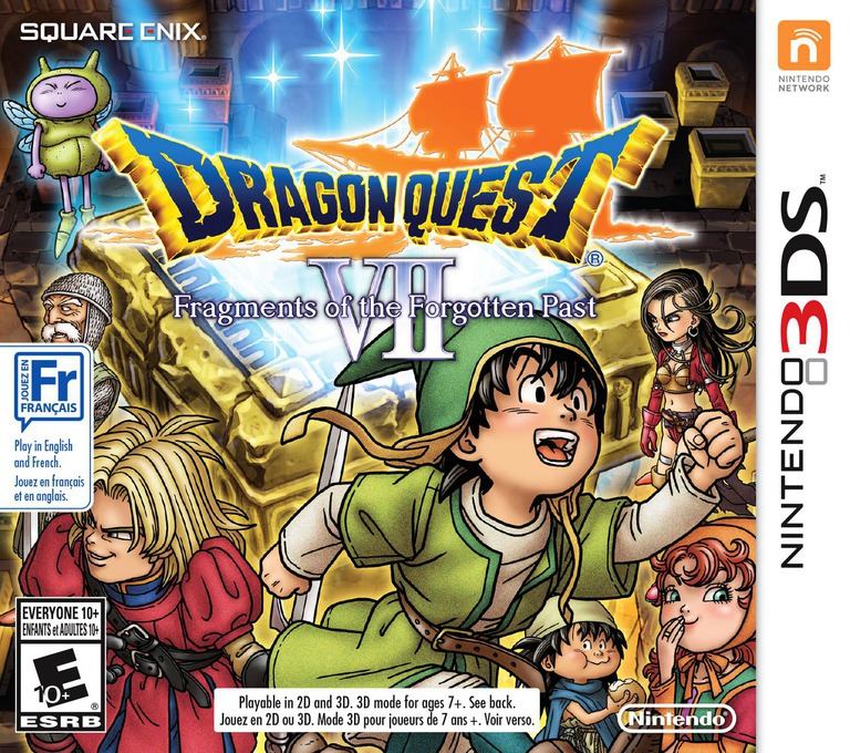 Dragon Quest VII: Fragments of the Forgotten Past 3DS coverHQ (AD7E)