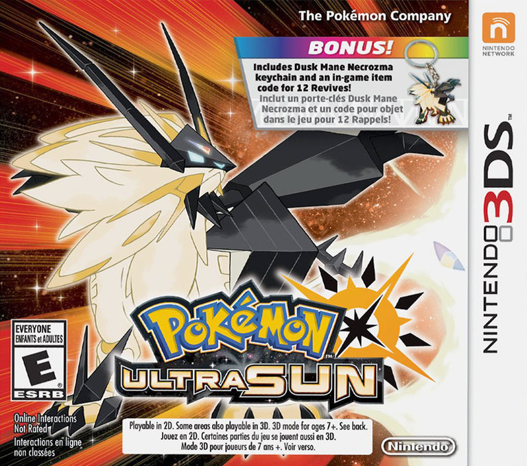 Pokémon Ultra Sun 3DS coverHQ2 (A2AE)