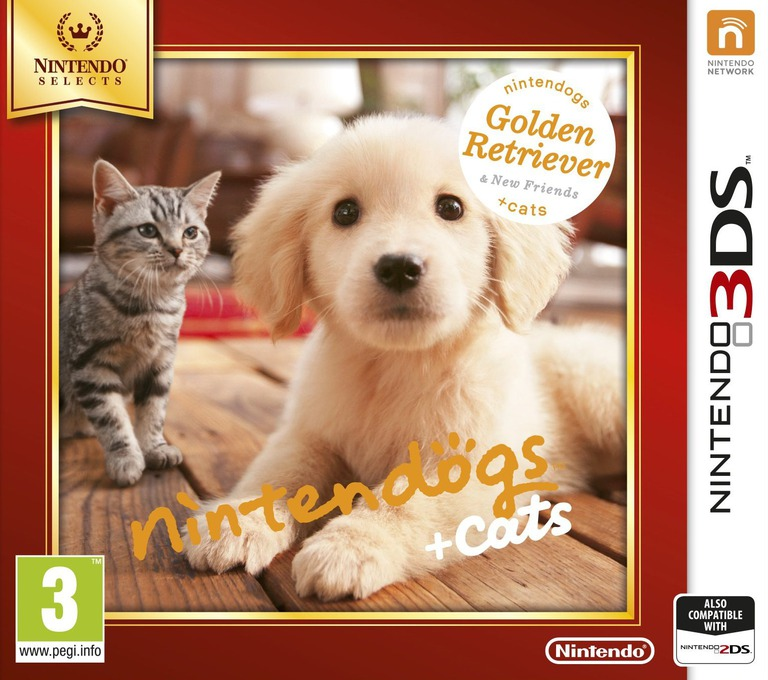 Nintendogs + Cats - Golden Retriever & New Friends 3DS coverHQB (ADAP)