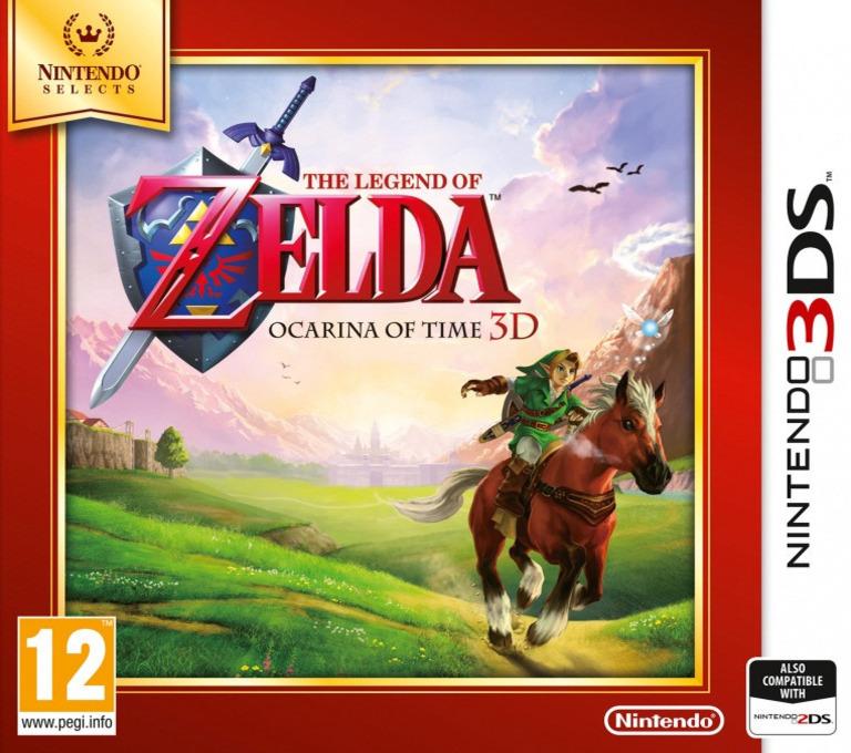 The Legend of Zelda - Ocarina of Time 3D 3DS coverHQB (AQEP)