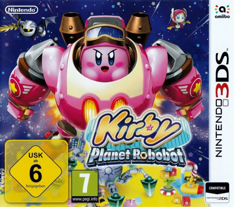Kirby: Planet Robobot 3DS coverHQB (AT3P)